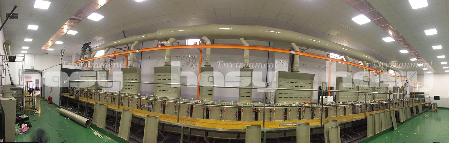 Xử lý khí thải bể mạ